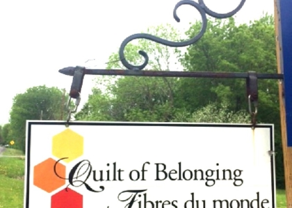 Quilt of Belonging Sign
